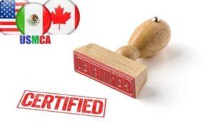get certified under usmca